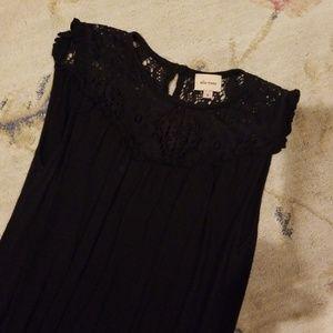 Ella moss black lace midi dress small